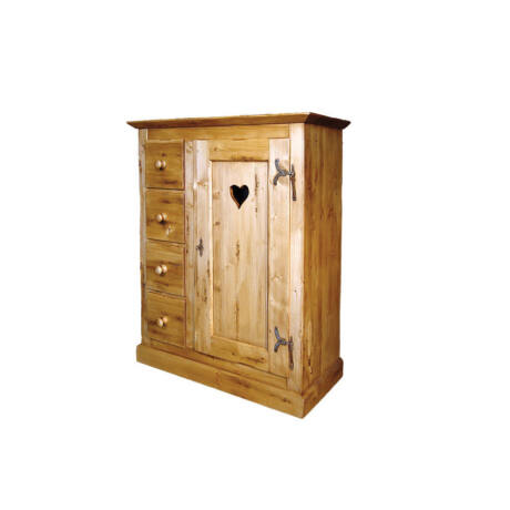 Egy ajtós, négy fiókos lisztes szekrény